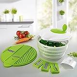 GOURMETmaxx Salat-Set 3in1 9-tlg. Salatschleuder mit Hobelaufsatz