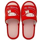 Nippon Slipper Sanrio My Melody Haus-Schuhe,Hausschuhe für Erwachsene Europa-Größe 34-38 Rot
