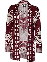 Flirty Wardrobe MyMixTrendz-Pull tricot à manches longues Motif chouette Cardigan imprimé léopard