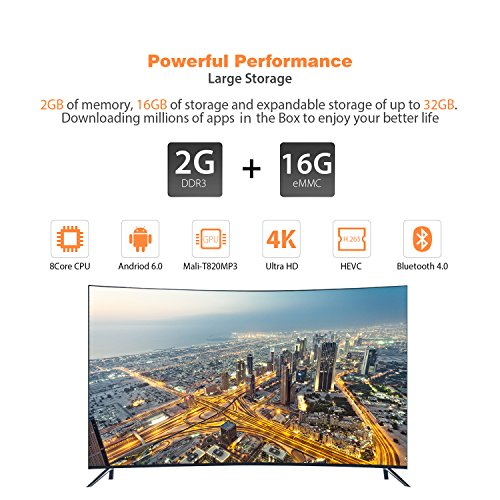 S912/2G/16G EMMC/1000M] Bqeel X9T Android 6 0 TV Box Amlogic S912