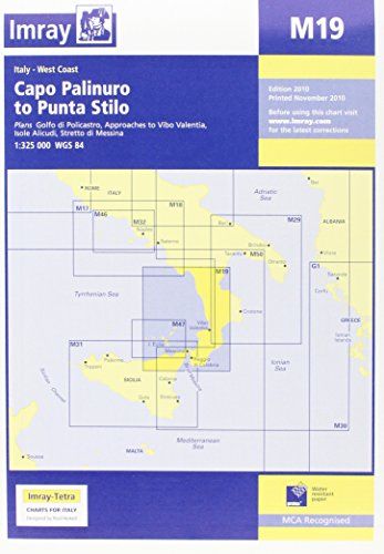 Imray Chart M19: Capo Palinuro to Punta Stilo