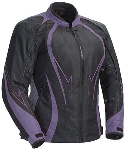 Juicy Trendz Damen Motorradjacke Frauen Wasserdicht Cordura Textil Motorrad Jacke, Violett, S - Motorrad-jacke