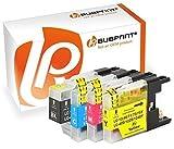 Bubprint 4 Druckerpatronen kompatibel für Brother LC-1220 LC-1240 LC1220 LC1240 für MFC-J430W MFC-J5910DW MFC-J6510DW MFC-J6710DW MFC-J825DW BK C M Y