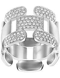 Swarovski – Anillo de mujer rodio cristal transparente – 51396