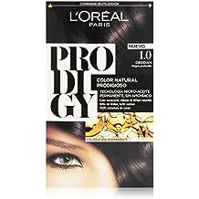 L'Oréal Prodigy Coloración Sin Amoniaco, Tono: 1.0 Negro Profundo Obsidian