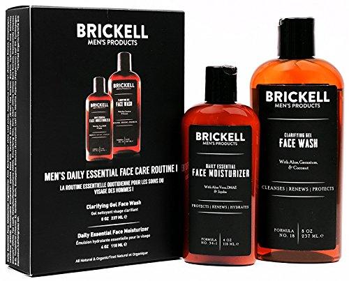 Brickell Men's Daily Essential Face Care Routine I - Gesichtsreinigungs-Gel und Feuchtigkeitslotion für das Gesicht - Natürlich und Organisch - Dmae Haut Creme