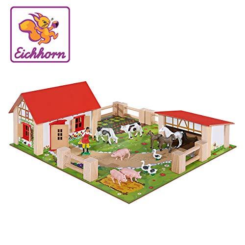 Eichhorn - Set de juego Little Farm, 21 piezas (100004304),...