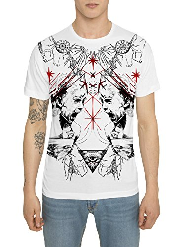 t-shirt-mode-homme-blanc-tee-shirt-cool-fashion-swag-rock-avec-imprime-motif-red-scream-haut-designe