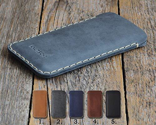 Leder Tasche für Nokia 1 7 2 8 6 5 3 150 (2018) Sirocco Plus 8.1 7.1 6.1 3.1 2.1 5.1 8110 4G Hülle Etui Cover Case personalisiert durch Prägung mit Ihrem Namen