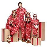 Weihnachten Schlafanzug Familien Outfit Mutter Vater Kind Baby Pajama Langarm Nachtwäsche Deer Print Sleepwear Overall Jumpsuit Mit Kapuze Casual Zipper Hoodie Sweatershirt