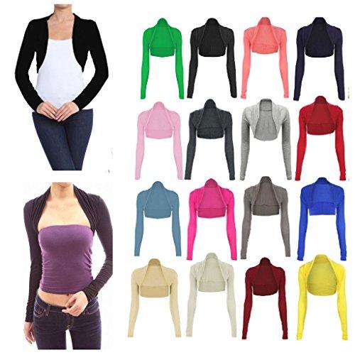 **New Ladies Women Short Sleeve Shrug Bolero Cardigan Top UK Size  8/_10/_12/_14**