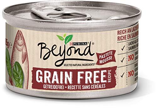 Purina BEYOND Katzennassfutter: getreidefreie Pastete, natürliche Zutaten, Premium Katzenfutter, 12er Pack (12 x 85 g)