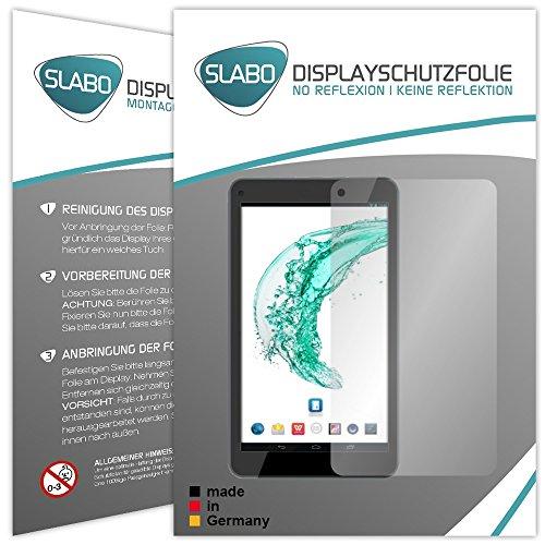 Slabo 2 x Bildschirmschutzfolie Odys Mira (7 Zoll) Bildschirmschutz Schutzfolie Folie No Reflexion|Keine Reflektion MATT - Entspiegelnd Made IN Germany