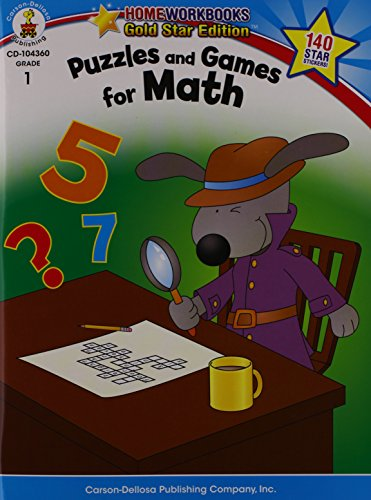Mobile eBooks Puzzles and Games for Math Grade 1 (Home Workbooks: Gold Star Edition)