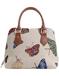 Bolso convertible de moda Signare para mujer en tela de tapiz bolso de hombro Mariposa