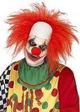 Smiffys Déguisement Adulte, Perruque de clown, Rouge, avec crâne chauve, 44898