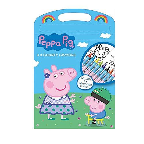 The Home Fusion Company Kinder Liebe Peppa Pig - das Ultimative Ventilator Listing Sticker Bücher Färbung und Vieles Mehr - Grob Crayons Foliert Tasche