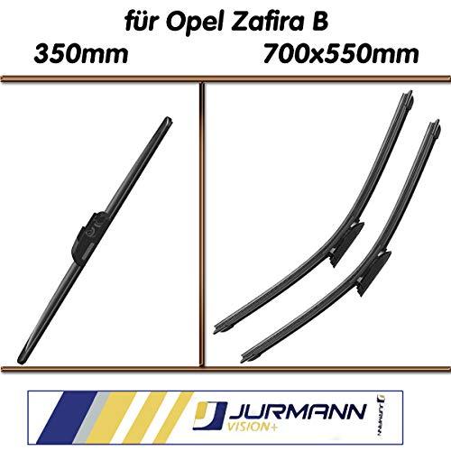 Jurmann Trade GmbH® 3er Komplett-Set Aero Scheibenwischer Vorne 700/550 mm & Hinten 350 mm Zafira B; A05; Zafira B Van; -