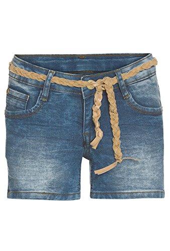GATO NEGRO Jeansshorts für Mädchen, Superstretch Mädchen-Shorts,Kinder-Shorts,Jeans-Shorts, blau,152