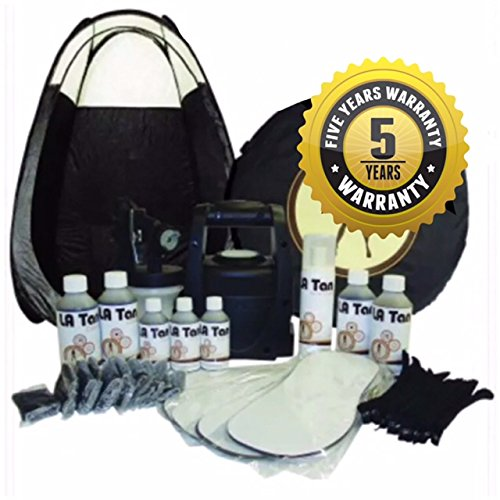 STAR BUY!!Latest Spray Tanning Kit! TS20 Unit, Black Tent, 7 Bottles of Our AWARD WINNING LA Tan Solution, Disposables, AND Barrier Cream.PLUS 5 YRS WARRANTY!