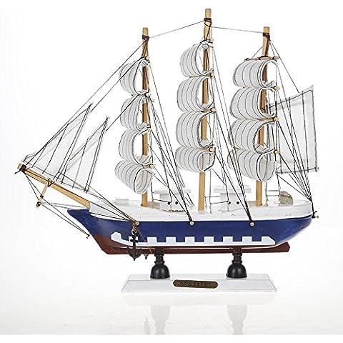 Lx.AZ.Kx I modelli di barche a vela di piccole barche a vela i modelli del portale celeste è decorato ristorante Cafe,F) - Celeste Angelo Ornamento