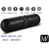 MOVO Vivo V7 Plus Compatible Certified MINI Bluetooth Multimedia Speaker System With FM / Pen Drive / Micro-SD Card Slot Apple IPad Wi-Fi And All Other Smartphones - Portable Pill F Bluetooth Speaker-Color May Be Vary