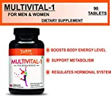 Vokin Biotech Multivital-1 General Daily Multi Vitamin with Potent Formula - 90 Tablets