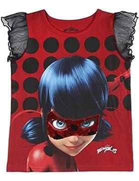 Miraculous, Le Storie di Ladybug e Chat Noir 2200002640 T-Shirt Cotone, Maglia Paillettes, Marinette