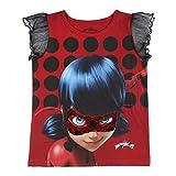 Cerdá Ladybug - Camiseta Manga Corta con Volantes (8 Años)
