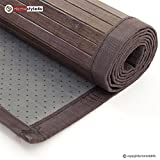 Ghorbani Bambusmatte Bambusteppich Teppich Bambus 80x200 Dunkel
