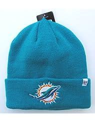 Miami Dauphins sur champ vert pliable Bonnet tricot bonnet NFL