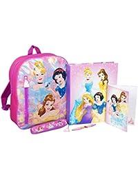 Mochila Princesas Disney Cenicienta Bella Blancanieves Aurora Ariel Rapunzel Cartera Juvenil Mochilas Escolares Niñas
