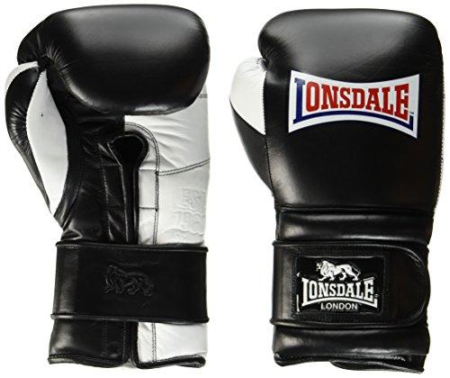 Lonsdale Erwachsene Barn Burner Boxhandschuh, schwarz/Weiß, 18 oz