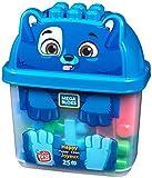 Mega Bloks First Builders boîte en forme de chiot, briques et jeu de construction, 25 pièces, jouet pour bébé et enfant de 1 à 5 ans, GFH49