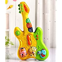 FI - FLICK IN Cute Musical Guitar Toy with Colorful Animal Keys, Songs and Sound and Light Effects Toys for Kids, Baby…