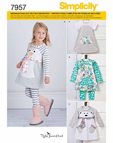 Simplicity 7957.A Schnittmuster Pyjama (Baby, Gr. XS - XL) (Stricken Herren-pyjama)