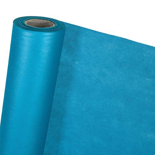 3,2m² DEKOVLIES Dekostoff Vlies-Tischdecke Tischband Bierbank Tischläufer Dekoband Gartentisch in 1,6m x 2m (blau)