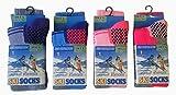 Kinder Thermo hohe Leistung extra gepolsterte Skisocken 4er Pack EUR 31-34