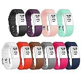 Bracelet Vancle pour Fitbit Charge 2, fréquence cardiaque, Bracelet de Remplacement Édition Classique pour Fitbit Charge 2 (Sans Traqueur)(10-Colour,Petit)