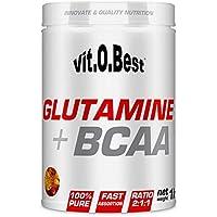 Vit-O-Best Glutamina + BCAA Complex, Suplementos Alimentarios para Deportistas, Sabor