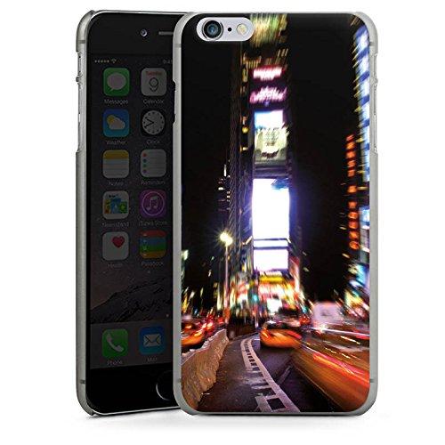 Apple iPhone X Silikon Hülle Case Schutzhülle Times Square Broadway New York City Hard Case anthrazit-klar