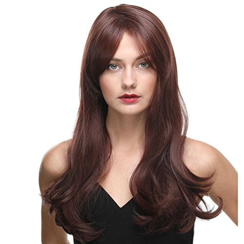 Pelucas para mujeres End Wave Brown Fashion Long Female Wig Replacement Buena garantía (END WAVE BROWN)
