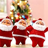 Unique Arts & Interiors Christmas Decoration Cute Red Santa Claus - Set of 6