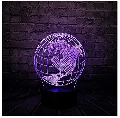 Nachtlicht NachttischLampe New Globe World America Karte 3D Led Lampe 7 Farben Ändern Stimmung Birne Kid Schreibtisch Dekorative Schlaf Lampe Gadget Geschenk Spielzeug