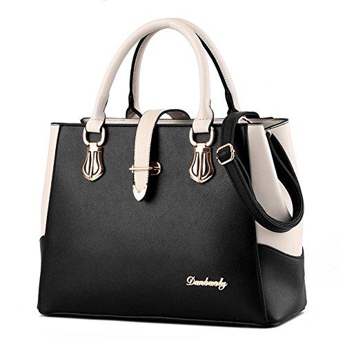 borsa a tracolla Ms./Messenger Bag/In bianco e nero cuciture borsa-E B