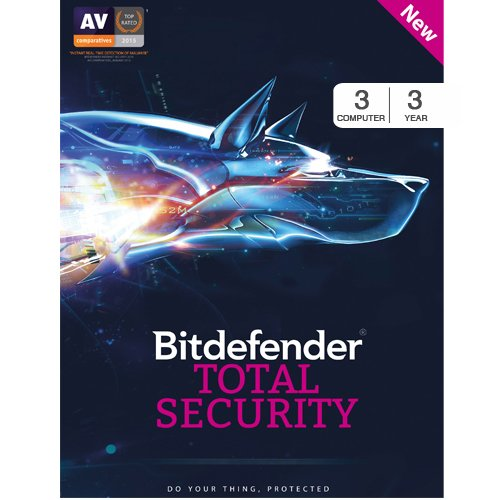BitDefender Total Security Latest Version- 3 Devices, 3 Years (Voucher)