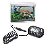 Caxmtu Digital LCD Fish Tank étanche Température Aquarium Thermomètre Mètre Reptile