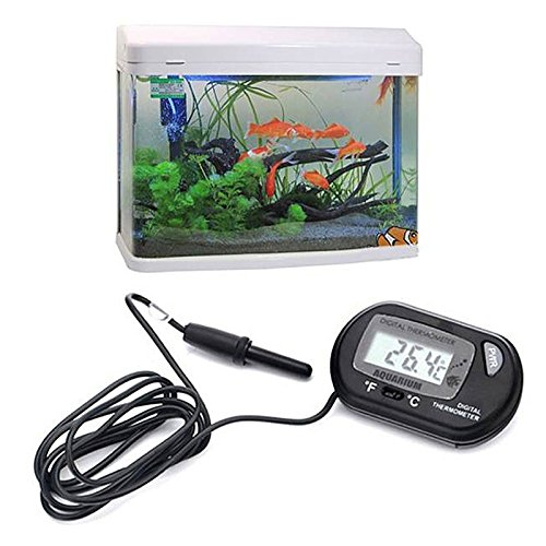 caxmtu Digital LCD Aquarium, Das Temperatur wasserdicht Aquarium Thermometer Messgerät Reptile - Messgerät Kapuze