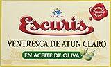 Escuris Ventresca de Atún Claro en Aceite de Oliva - Paquete de 3 x 120 gr - Total: 360 gr