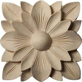 Ekena Millwork ROS05X05AUMA Austin Star Rosette, 5-Inch x 5-Inch x 3/4-Inch, Maple by Ekena Millwork